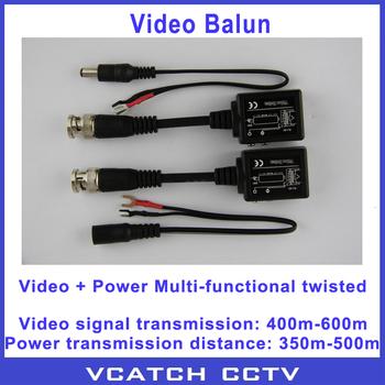 Free Shipping 5 Pairs/lot Twisted Video Power Balun Passive Transceivers CCTV DVR Camera BNC Cat5 UTP Calbe RJ45 Interface