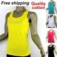 New 2014 promotion summer hot women vest female brand stretch cotton spaghetti strap vests free shipping