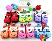 Free Shipping,2pair/lot Baby handmade shoes Crochet infant sandals Baby/First Walking Shoes baby walking shoes new shoes