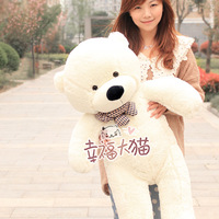 Free Shipping! Large 1 meters toy plush doll lovers baby bear pillow birthday gift