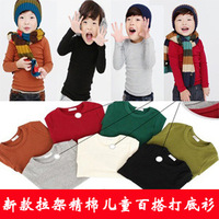 Baby autumn top child infant outerwear t-shirt male female child 100% long-sleeve cotton sweatshirt basic