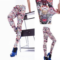 New Supernova Sale Fashionable Design Fitness Fantasias Comics Elf Sack Lovely Clown Graffi Sexy Legging 050