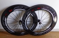 free shipping,  road bike wheel set  clincher 88mm , bicycle wheel, cycling bike , flat spokes , one pair  wheelset