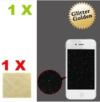 1X Gold Glitter LCD Screen Protector Cover Skin film guard for Apple iPhone 4 4G 4S free shipping