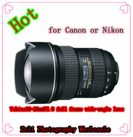 The lens for Tokina AT-X 16-28 F2.8 PRO  full frame wide-angle lens for canon 5D 6D 7D or nikon D600 D700 D800 D3 D4