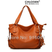 2013 New Chloden Retro Celebrity Tote Brand Design Macchiato Tassel PU Leather Women Bags Street Snap Luxury Ladies Handbags