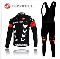 mens Sportswear CASTELLI racing winter Warm Fleece Thermalciclismo skinsuit bike Bicycle wear clothing cycling jersey bibs pants
