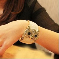 Min. Mixed Order $10 Free shipping European Fashion Vintage Owl Bangles & Bracelets for Women Jewelry Punk wide bangles