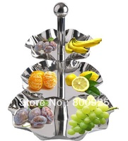 1pc stainless steel fruit bowl, display shelf 3 layer fruit shelf