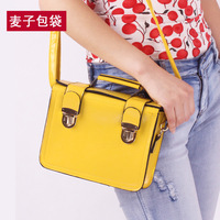 Candy color bag handbag messenger bag single shoulder bag vintage bag motorcycle bag box bag female bags