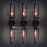 Rh loft fashion vintage long hoaxed wall lamp
