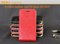 100% Genuine leather flip case for jiayu G3 G3S leather case free shipping case for jiayu g3 g3s phone cover case