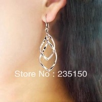 Free Shipping Twisted Pair Stunning Fashion Hoop Earrings Ear Hook Section