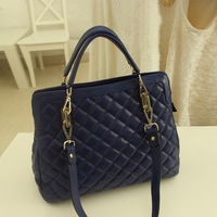 xmas gift bag 2013 women's handbag dimond women's plaid handbag shoulder  portable women's handbag messenger  big bags