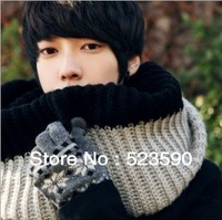 2013 Color Matching Knitting Scarf Men, Set Of Head Of Wool Scarf, Fashion Men's  , Free Shipping, Quality Assurance