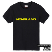 2014 / homeland casual tee summer cotton /novelty T-shirt/ large size/ personality T-shirt / men top