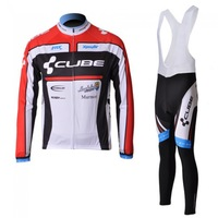 2012 men's Outdoor Sportswearroad racing CUBE  Cycling clothing Wear road racing bicycle/bike/riding long Jersey +bibs pant kits