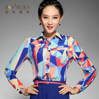 2013 autumn plus size clothing long-sleeve shirt female top all-match casual shirt