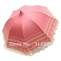 2013 New lace Princess royal folding arched  sun protection manual mushroom umbrella