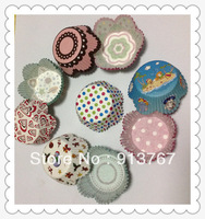 100pcs  assorted 4  petal Paper Cupcake Liners Muffin Cases Baking Cups cake cup