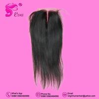 4x4 Straight Brazilian Human Hair 1 piece Lace Closure Queen Brazilian Straight Hair Bundles 6a Hair Free Shipping