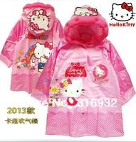 Free Shipping Cute Hello Kitty PVC Rain Coat for Kids, 1pc