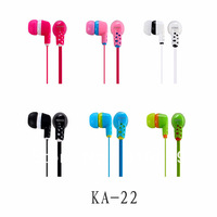 Free Shipping (5 Pieces/Lot) 3.5mm In-ear Flat Cable Contrast Color Headphone Earphone Earbuds For MP3 PC Mobile Phone