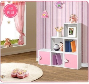 Cabinet bookcase combination storage cabinet child white bookcase single cabinet brief modern cabinet