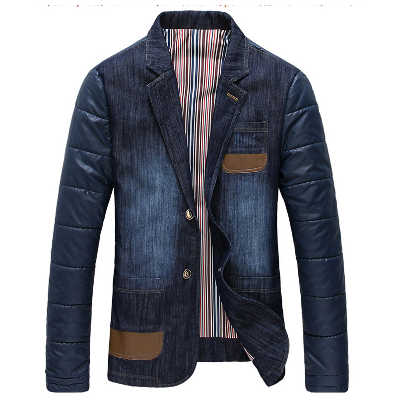 Mens Denim Blazer Jacket