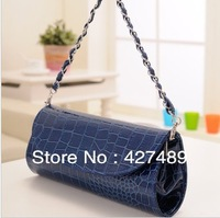 New fashion korean style clutch women handbags casual solid color chain shoulder bag for ladies P04
