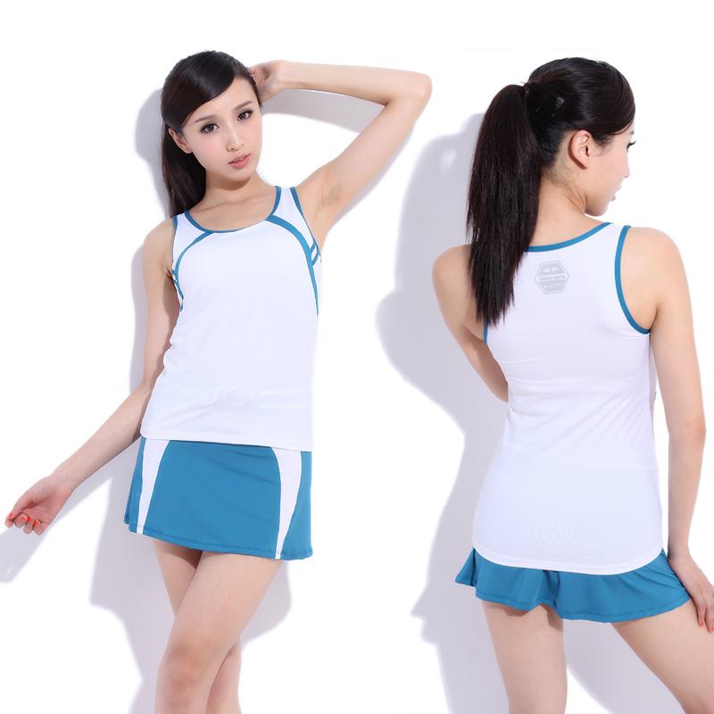 Yoga clothes set fitness clothing badminton female 21405(China (Mainland))