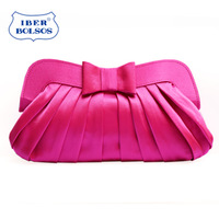 Fashion 2013 sweet princess bow pleated evening bag banquet bag evening bag day clutch women's handbag