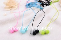 Free Shipping (5 Pieces/Lot) 3.5mm In-ear Headphone Earphone Earbuds With Mic And Volume Control For Mobile Phone