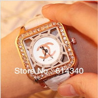 Strap watch small sweet and C han edition female table Korea fashion ladies diamond brand watch package mail