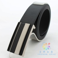 Korean men's fashion casual veneer smooth buckle belt men's belts  free shipping men leather belt