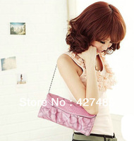 2013 New fashion women's clutch casual snake texture nice chain cheap handbag for woman P05