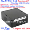 mini itx systems barebone pcs with AMD Athlon Neo X2 L325 1.5Ghz Slim ODD CD-ROM HD3200 Graphic alluminum chassis 780E Chipset
