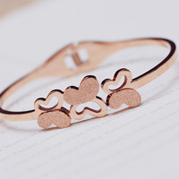 high quality cheap jewelry Butterfly fashion 18k gold color gold rose gold bracelet fashion female titanium bracelet