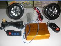 Refires motorcycle alarm mp3 audio zone alarm band fm radio flasher wire remote control