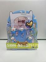 Hot!!!!! Birthday gift action finger model toy doll adventure time FINN  Finn battle pack