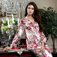 American standard 2013 female long-sleeve pure silk mulberry silk sleep 320677 lounge set
