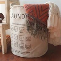 Fluid storage bucket miscellaneously storage baskets laundry bucket clothes sorting bags zakka