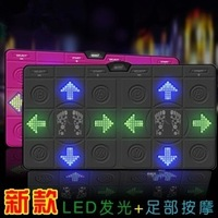 Hd card led light emitting thenar massage computer tv dual thickening double dance mat with light dancing machine