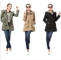 2013  Winter New fashion women's down coat/high quality woman winter coat/men's down jacket black army green Free Shipping c002
