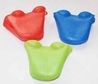 Free Shipping Dog/Doggie Design Pliable Silicone Pot Holder Silicone Glove Oven Mitt