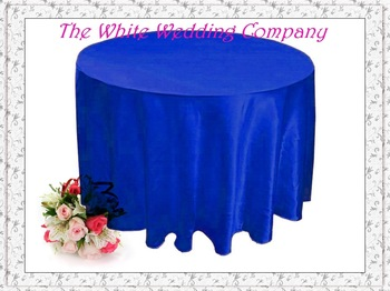 A Dozen 70'' Round Satin ROYAL BLUE Wedding Table Covers Party Table Cover Linen Tablecloth