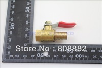"10pcs House Barbed 1 4 10""BSP Female Full Ports Brass Pipe Ball Valve"