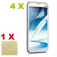 4X Clear Screen Protector Skin Cover film Guard for Samsung Galaxy Note 2 II N7100 free shipping