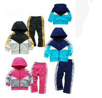 2014 AD Clothes Children's Clothes Baby Kids clothes boys girls Sport Leisure Hooded suit Children's Clothing sets 2pcs,Retail