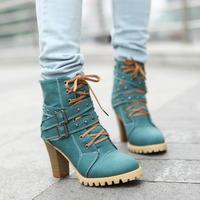 2013 autumn-summer new fashion Thick heel rivet vintage women martin boots women motorcycle boots